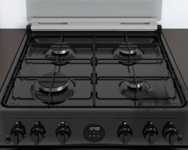 New Indesit Freestanding Double Oven Cooker <strong>Gas</strong> with <strong>Easy Display</strong>